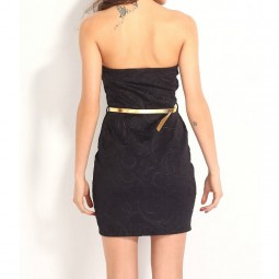 QUEEN LINGERIE VESTIDO NEGRO SEMICORTO PALABRA HONOR