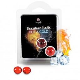 SECRETPLAY BRAZILIAN BALLS EFECTO CALOR FRIO 2 UNIDADES