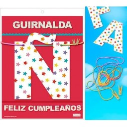 GUIRNALDA FELIZ CUMPLEANOS 3 METROS