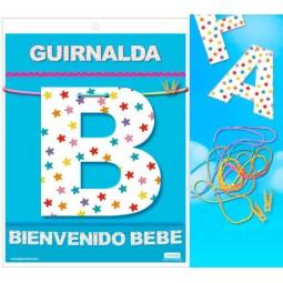 GUIRNALDA BIENVENIDO BEBE Cartulina 220gr