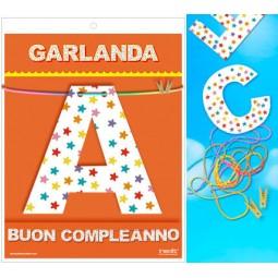 GUIRNALDA BUON COMPLEANNO Cartulina 220gr