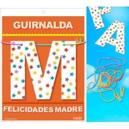 GUIRNALDA FELICIDADES MADRE Cartulina 220gr