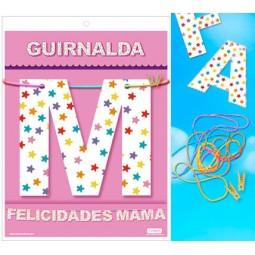 GUIRNALDA FELICIDADES MAMA Cartulina 220gr