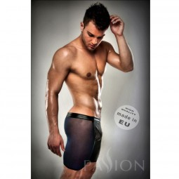 BOXER NEGRO 026 TRANSPARENTE LARGO LEATHER S M