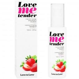 LOVE TO LOVE ME TENDER MASAJE EFECTO CALOR SABOR A FRESA 100ML