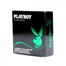 PLAYBOY EXTRA PLEASURE CONDON TRANSPARENTE 54MM 3 UDS