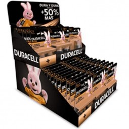 DURACELL PLUS EXPOSITOR CARTON C0N PILAS INCLUIDAS