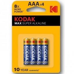 KODAK MAX SUPER PILA ALCALINA AAA LR03 BLISTER4