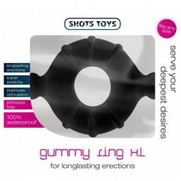 SHOTS TOYS ANILLO SILICONA GUMMY XL COLOR NEGRO
