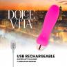 DOLCE VITA VIBRADOR RECARGABLE FIVE ROSA 10 VELOCIDADES