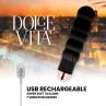 DOLCE VITA VIBRADOR RECARGABLE SIX NEGRO 10 VELOCIDADES