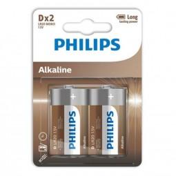 PHILIPS ALKALINE PILA D LR20 BLISTER2