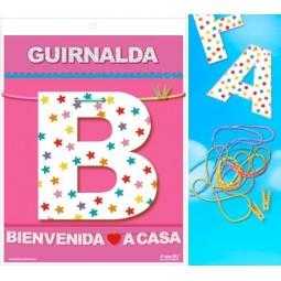 GUIRNALDA BIENVENIDA A CASA CARTULINA 220gr