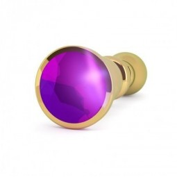RICH R2 PLUG ANAL METAL GOLD PURPLE SHAPHIRE 12CM