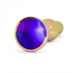 RICH R4 GOLD PLUG ANAL METAL PURPLE SAPHIRE 12CM