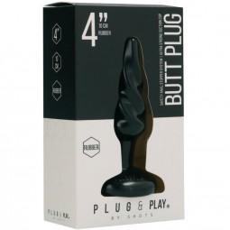 PLUG PLAY PLUG ANAL ESPIRAL10 CM NEGRO
