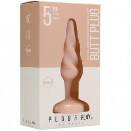 PLUG PLAY PLUG ANAL ESPIRAL127 CM NATURAL