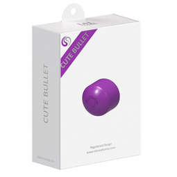 ML CREATION CUTE BULLET POTENTE VIBRADOR RECARGABLE USB LILA